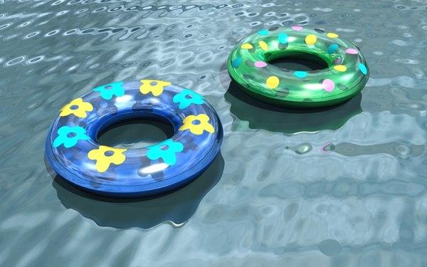 inflatable swim rings 3d max