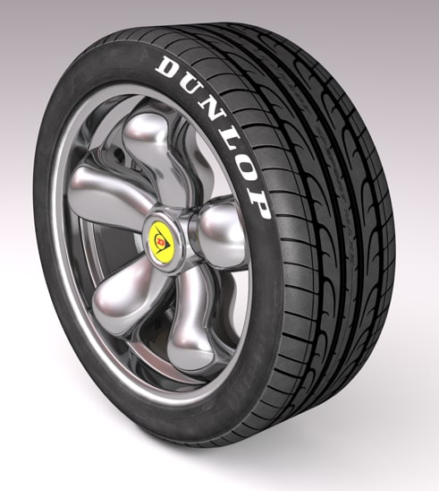 3d model car tire tyre rim
