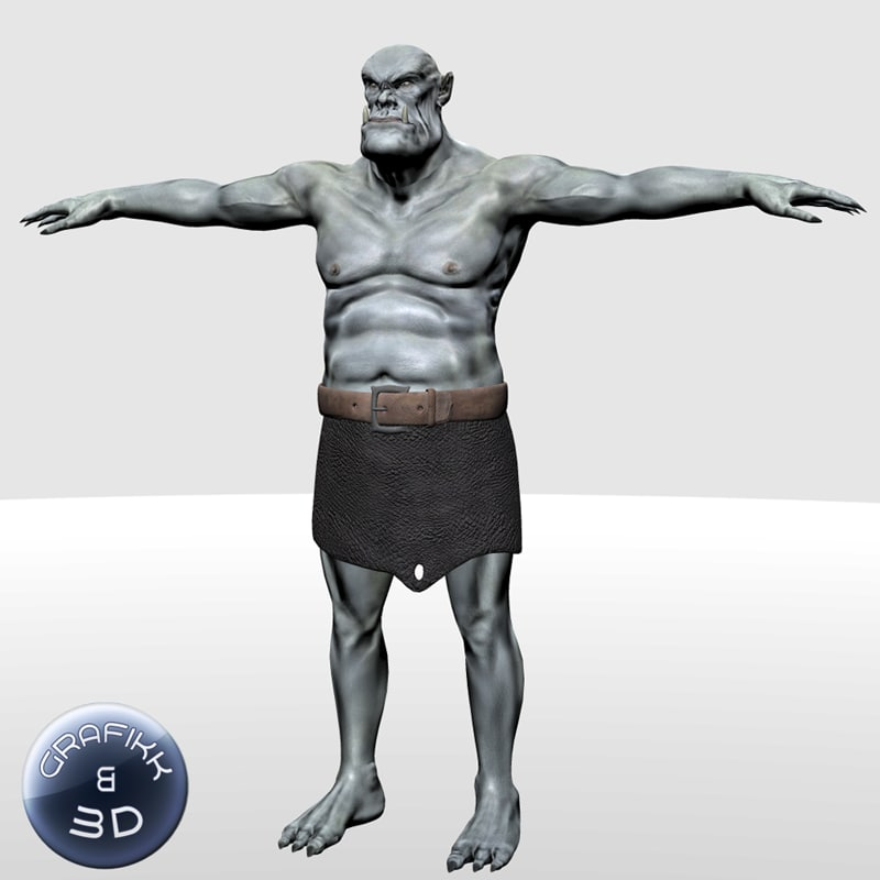 3d troll creature