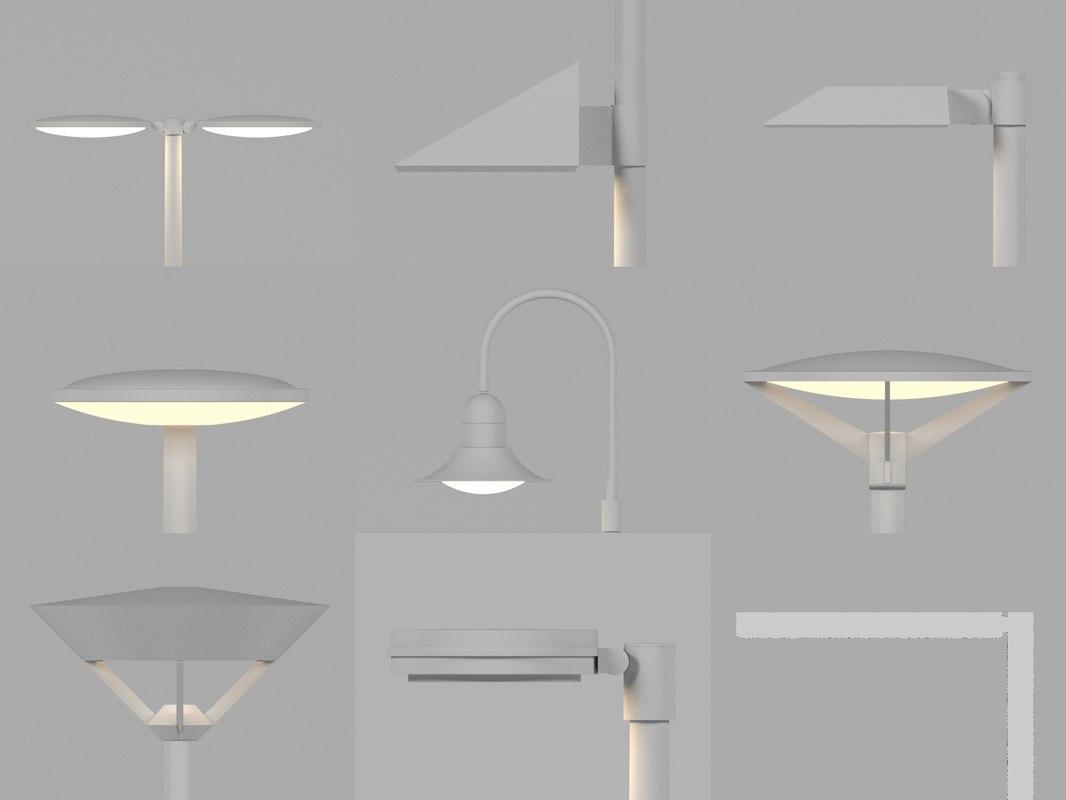 urban led lighting 3d model