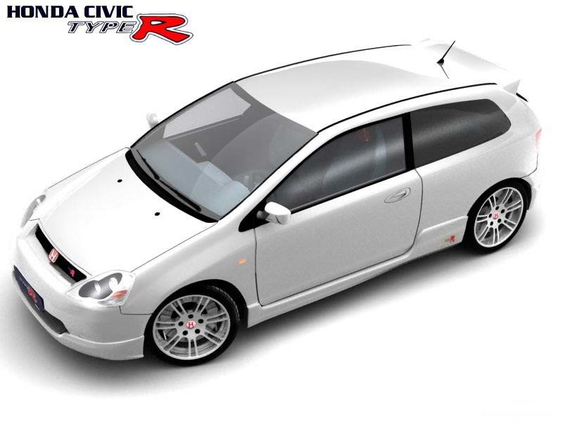 honda civic 2003 type-r 3d max