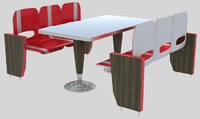 wimpy seating table 3d max