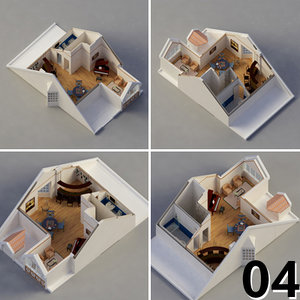 house interior 3d dxf