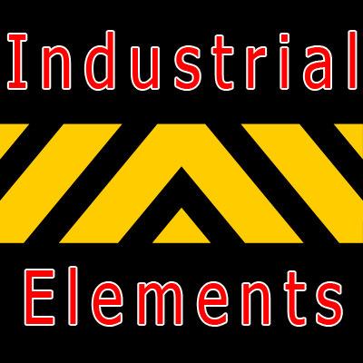 industrial elements 3d model