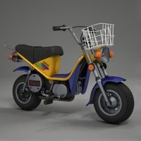 yamaha chappy 1998 3d model