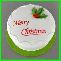 3dsmax christmas cake