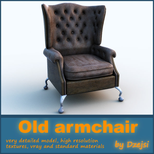 old armchair 3d max