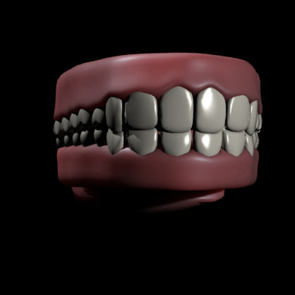 3d time mouth interior