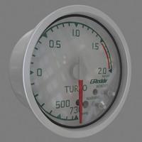 boost gauge 3d model