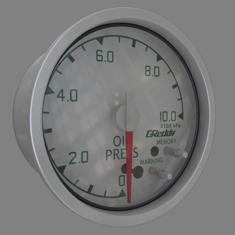 oil pressure gauge 3d model