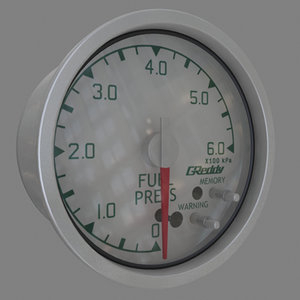 3ds max fuel pressure gauge