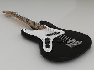 fender jazz bass electric guitar 3d model