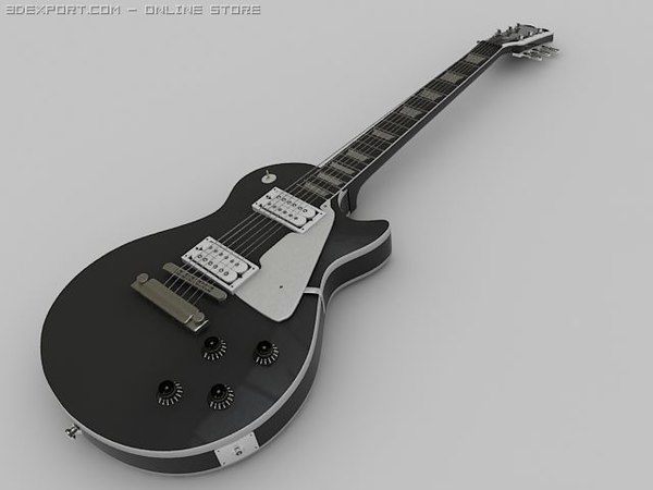 3d gibson les paul guitar model