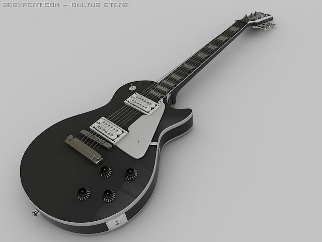 3d gibson les paul guitar model
