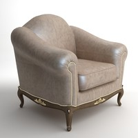 3ds max qualitative leather armchair