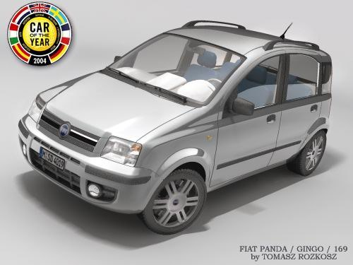 3d fiat panda model