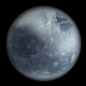 realistic planets 3d model