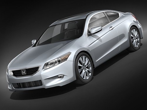 3d model honda accord sport coupe