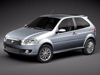 3d fiat new palio 2009 model