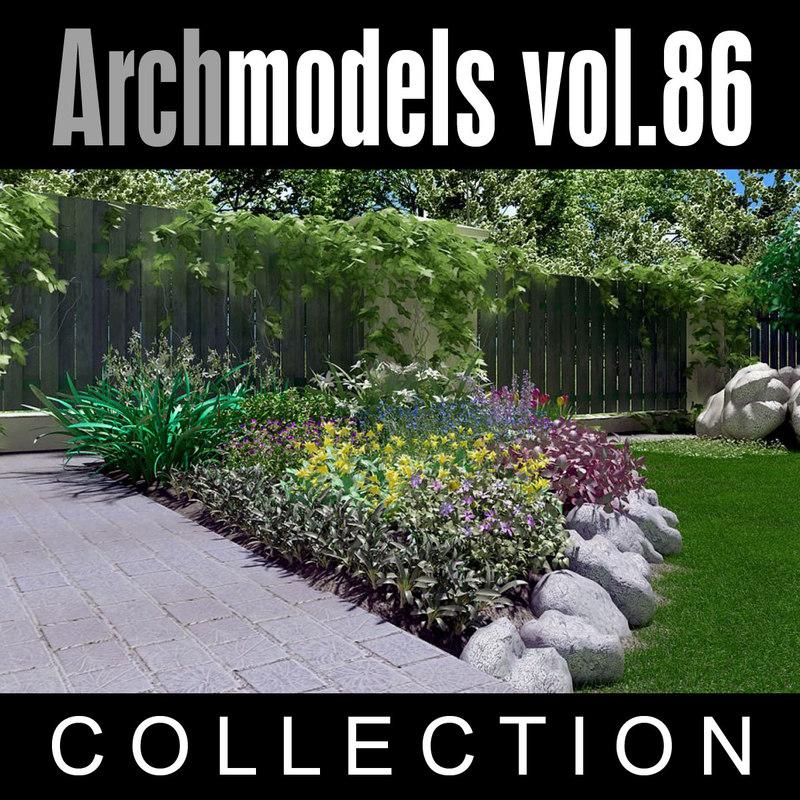 3d model archmodels vol 86 flowers