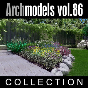 3d model archmodels vol 86 flowers