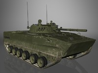 BMP-3 Russian Army IFV Game Ready Model