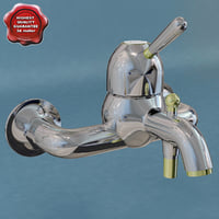 3d bathroom mixer axor carlton model