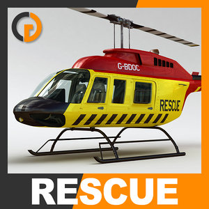 3dsmax rescue bell 206l helicopter interior