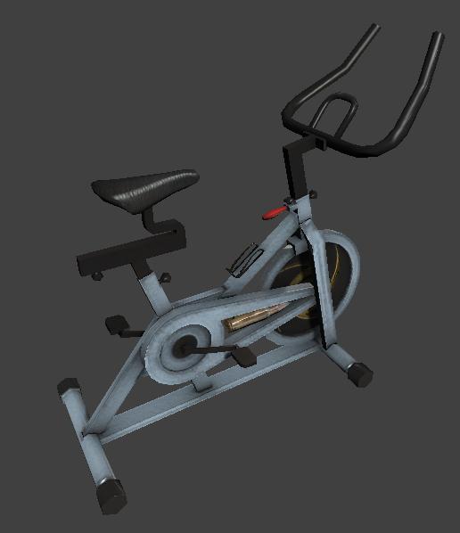 stationary exercise bike obj