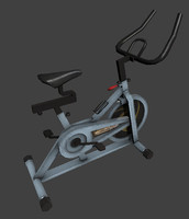 stationary exercise bike obj