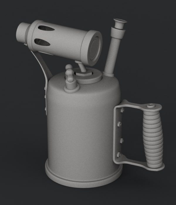 3d old fashioned blow torch model