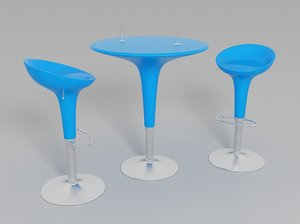bombo stool table 3d max