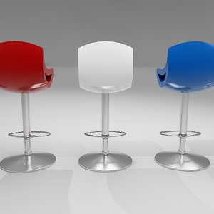 braxton studio bar stool 3d max