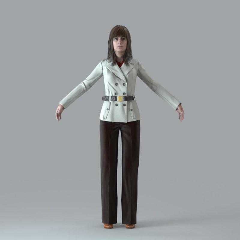 3d model character human