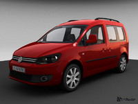 3d model volkswagen caddy life 2010
