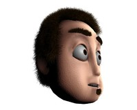 Cartoon Character Head- Clint