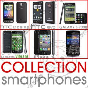 smartphones blackberry htc evo 3d model