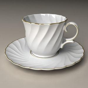 cup porcelain 3d model