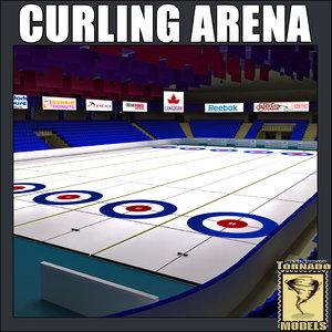 curling arena c4d