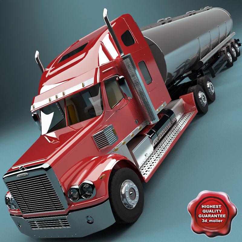 3ds freightliner coronado tank trailer