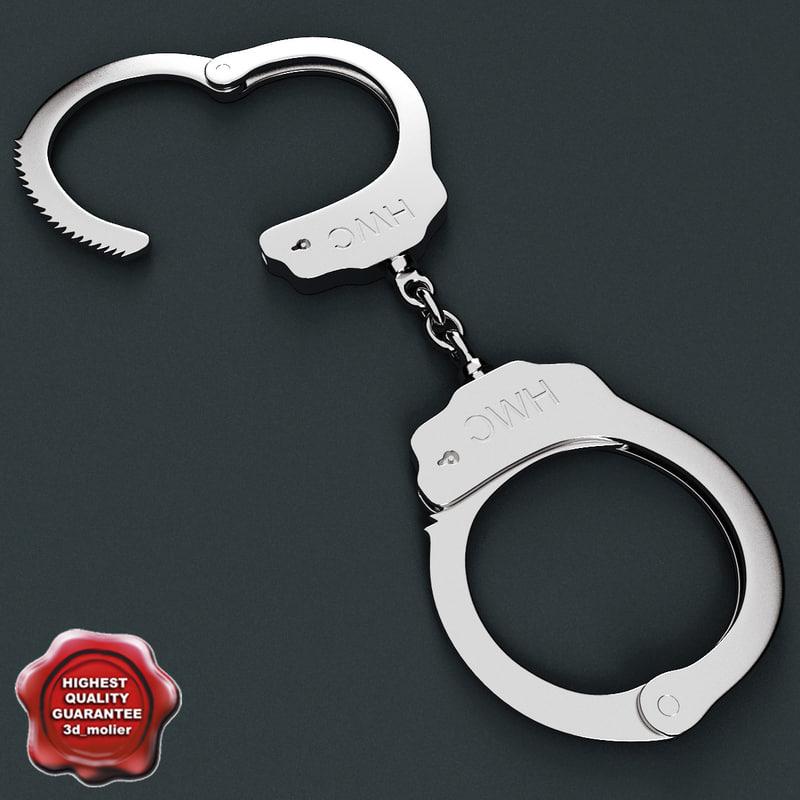 handcuffs modelled 3ds