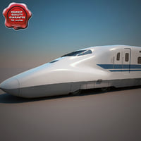 3d model high-speed train shinkansen 700