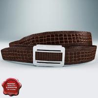 3d leather belt v4