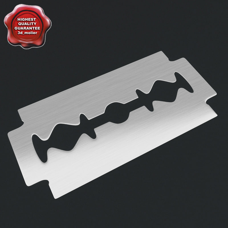 3d razor blade model