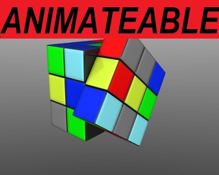 obj rubik s cube