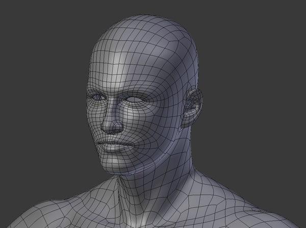 3d model of mesh man