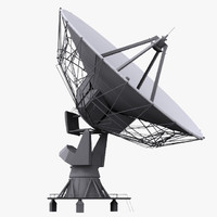 3d model based satellite antenna