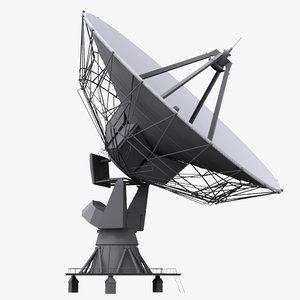 3d model based satellite antenna