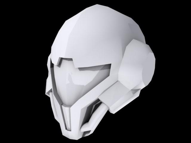 3ds max custom helmet
