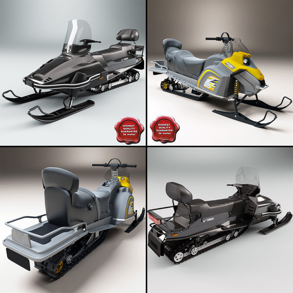 3d snowmobiles yamaha viking model